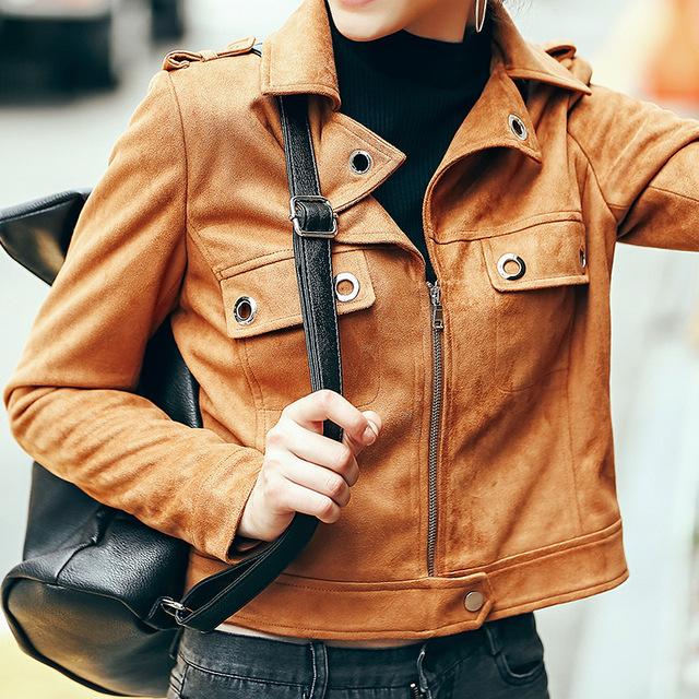 [XITAO] NUEVA Llegada eólica Europea streetwear corta longitud adelgazamiento forma manga a todo color sólido chaqueta femenina MFB-48
