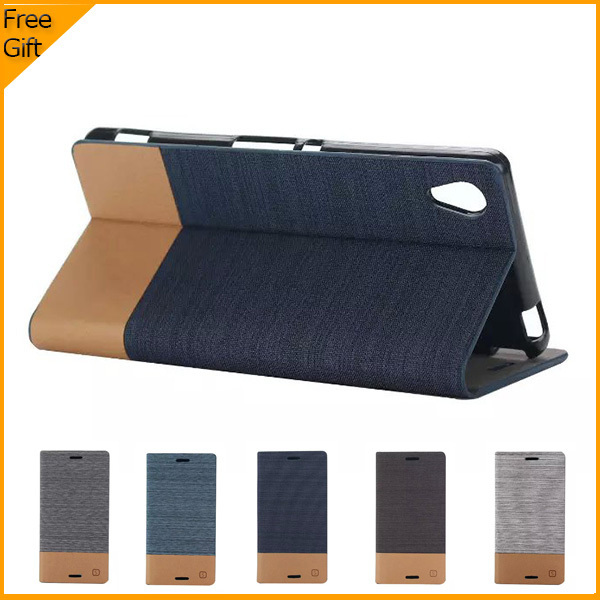 low priced dd6e8 e1024 US $5.32 20% OFF|Luxury Wallet PU Flip Leather Cell Phone Cover Case For  Sony Xperia M4 Aqua Dual Case Shell Back Cover With Card Holder & Gift-in  ...