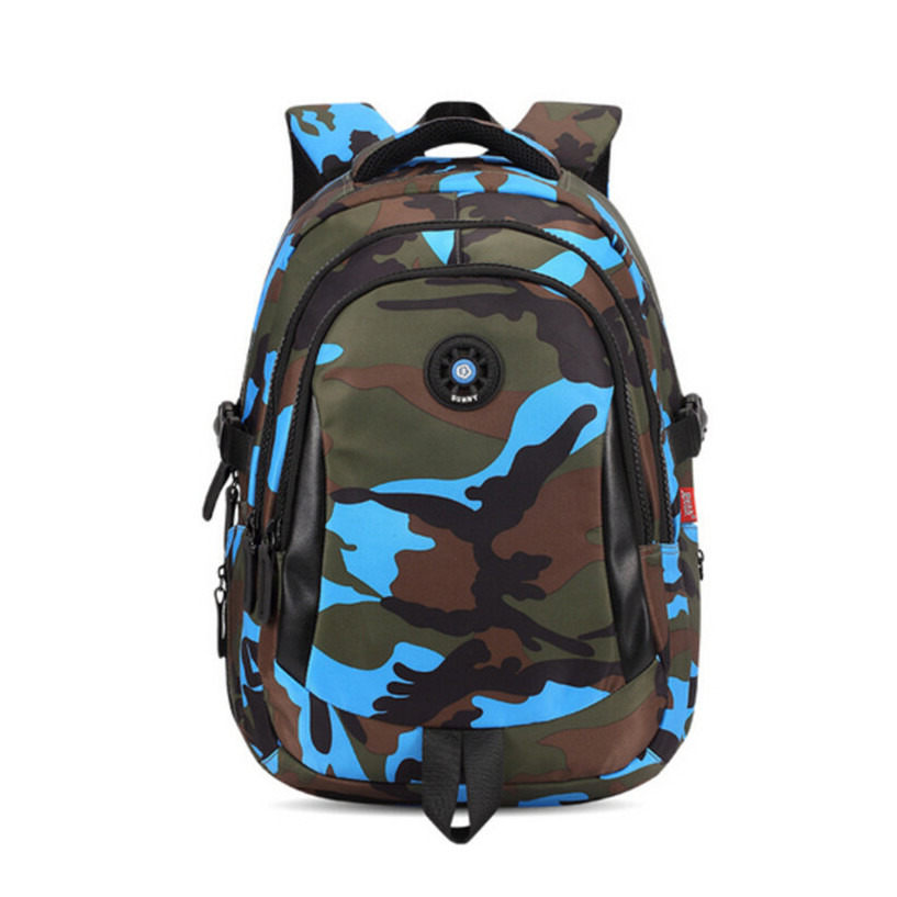 Boys school backpack waterproof nylon bag kids backpack camouflage children backpacks schoolbag orthopedic school bag  bookbag