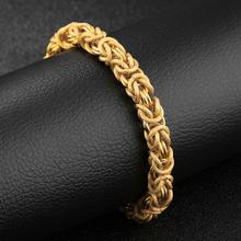 New Creative Dragon Pattern Mens Bracelet Engraving Scales Geometric Stainless Steel Wrist Jewelry Misheng Brand Accessories