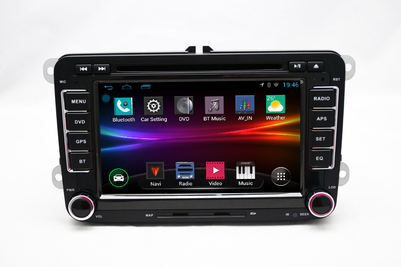 vw volkswagen android car radio gps dvd skoda (1)