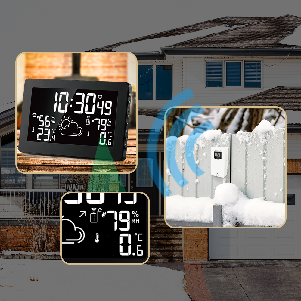 Image 4 - Protmex PT3378A Color Display Weather Station, Indoor Outdoor 