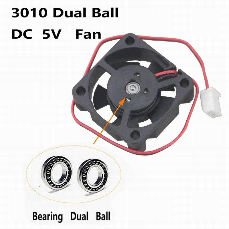 Купить с кэшбэком 2 Pieces Gdstime 30mm DC 5V 3010 30x30x10mm 3cm Dual Ball Bearing Big Air Flow Cooling Cooler Fan 30mmx30mmx10mm