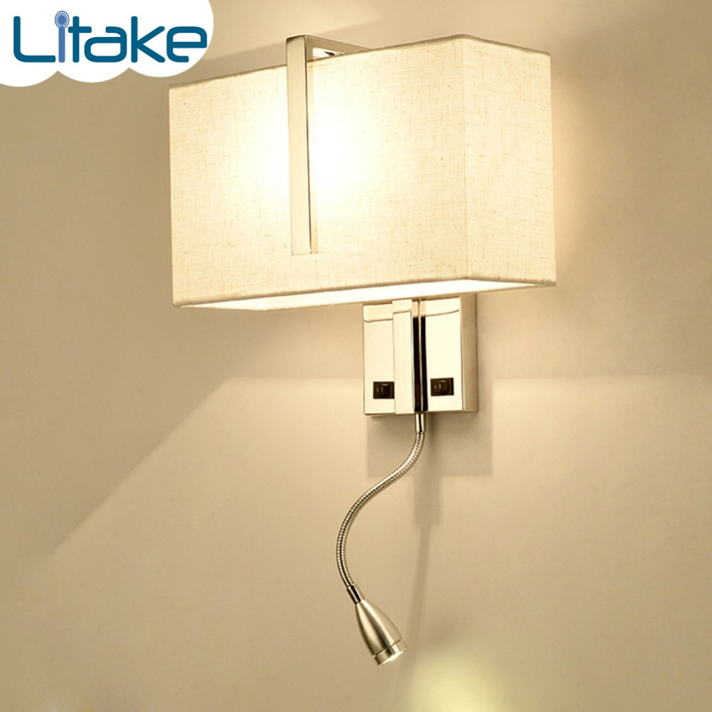 Litake E27 3W Simple Square LED Wall Light Night Lamp bedside room bedroom wall lamps arts Decoration lovely plane wall lamp creative arts cartoon wall lamp the bedroom of children room lamps led night light on a bedside lamp