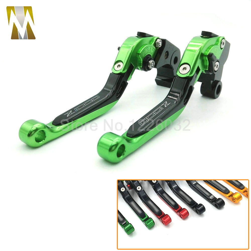 Motorcycle Brakes CNC Foldable Extendable Clutch Levers For Kawasaki Z1000 2007-2015 Z1000 SX NINJA 1000 Tourer 2011-2015 motorcycle adjustable foldable brakes clutch levers and handelbar girps for kawasaki z1000 2011 2016 2012 2013 2014 2015
