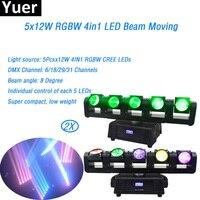5 глаза светодиодный луч света 5x12 Вт перемещение головного света 8 градусов луч DMX512 Светодиодный лампа супер компактный 360 градусов вращающи