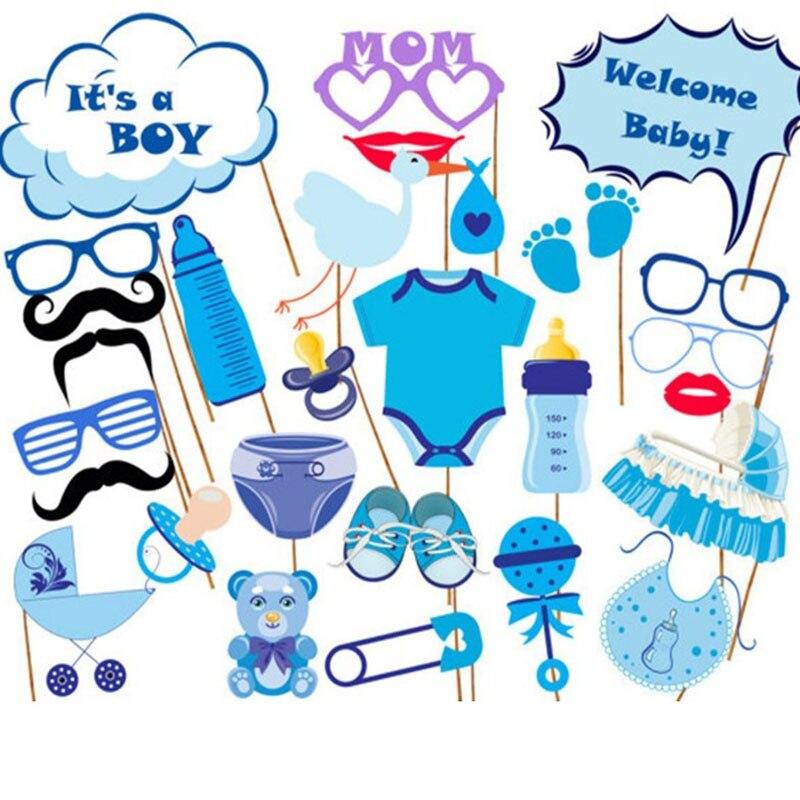 Baptême-Bleu String Décorations-Mignon Fête Pendaison Animaux Garçon Fille