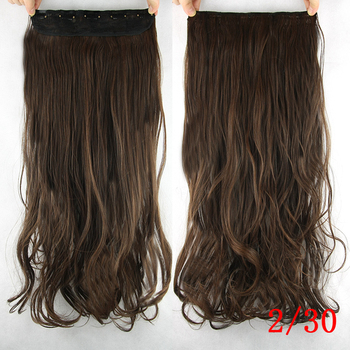 Soowee 60cm Long Synthetic Hair Clip In Hair Extension Heat Resistant Hairpiece Natural Wavy Hair Piece 3