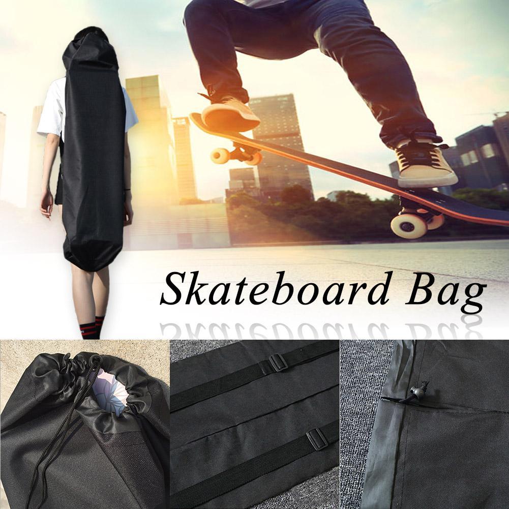 118x40cm Black Waterproof Electric Longboard Backpack Skateboard Carry Bag Dance Board Drift Board Travel Bag Longboard Rucksack
