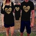 Combinando roupas de verão da família 2017-algodão de manga curta mãe e filha roupas família olhar letra t-shirt set clothing