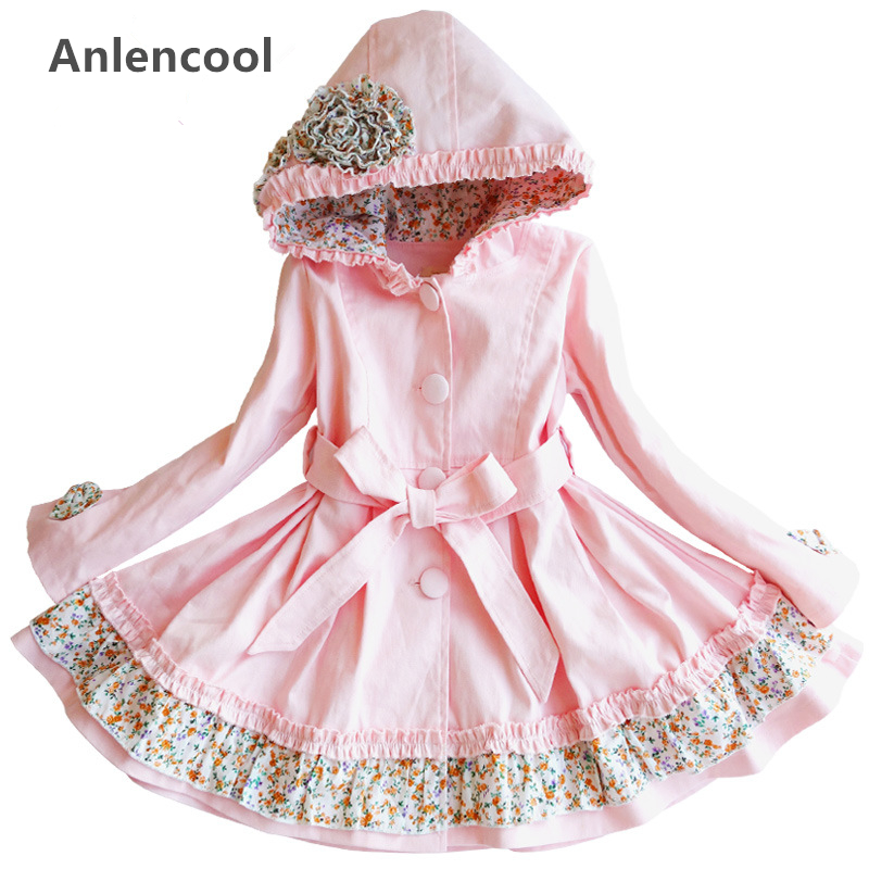ФОТО Anlencool 2017 Children clothing pure girls sermon brand children's clothing in the long sleeved coat in the New spring girls