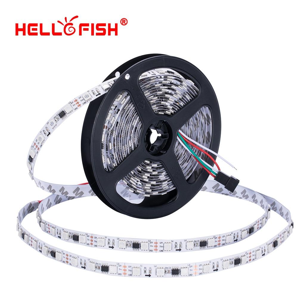 WS2811 UCS1903 16703 LED strip IP65 Waterproof 5M 300 Leds Rgb Full color 5050 Led strip DC12V flexible LED tape lights lighting