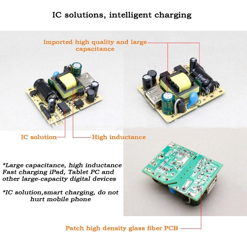 Universal USB-laddare Wall Travel mobiltelefonladdare AC / DC-adapter - Reservdelar och tillbehör för mobiltelefoner - Foto 4