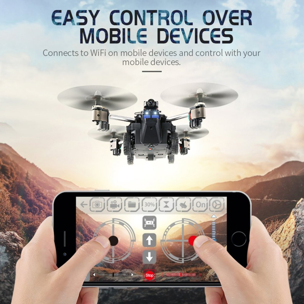 JJR/C H40WH Selfie FPV RC 2.4G RC Quadcopter Tank Car Drone Aircraft with 720P Wifi HD Camera Altitude Hold 360 Flips high performance uav aircraft quadcopter rc app fpv selfie live altitude hold
