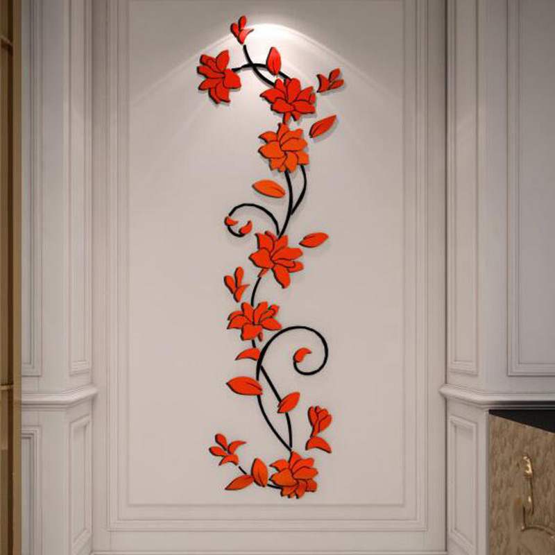 Free Shipping Flower Hot Sale Wall Stickers Home Decor 3d Wall