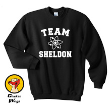 Team Sheldon Cooper Shirt Top Big Bang Theory Chemistry Penny Leonard Bazinga Top Crewneck Sweatshirt Unisex More Colors 7pcs tbbt figure set sheldon leonard the big bang theory bernadette rajesh howard amy penny building blocks set model bricks toy