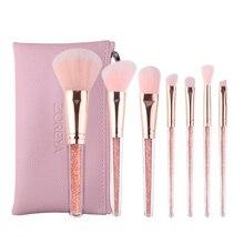 Makeup Brushes Set 7pcs Pink Crystal Soft Concealer Foundation Eyeshadow Lip Blush Brush Tool