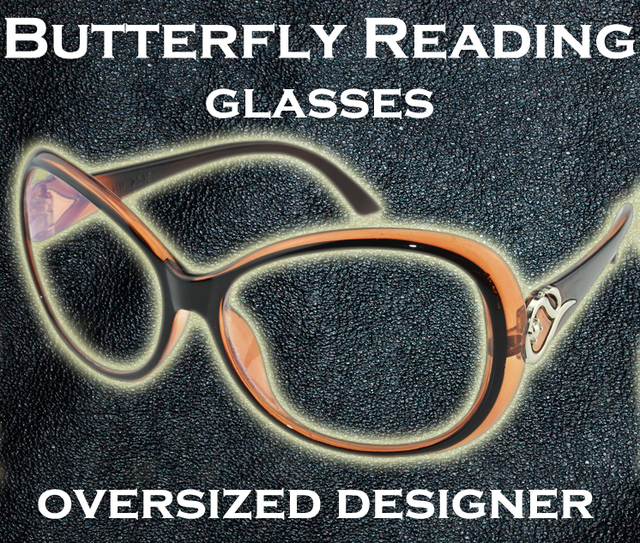 30f8b2d3555  CLARA VIDA  Fashion The world s largest Butterfly Bifocal Reading glasses  spectacles See near or far +1 +1.5 +2 +2.5 +3 +3.5 +4