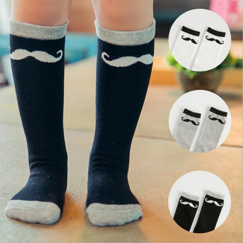 Brand Cotton Socks Fashion Cute Mustache Black Grey