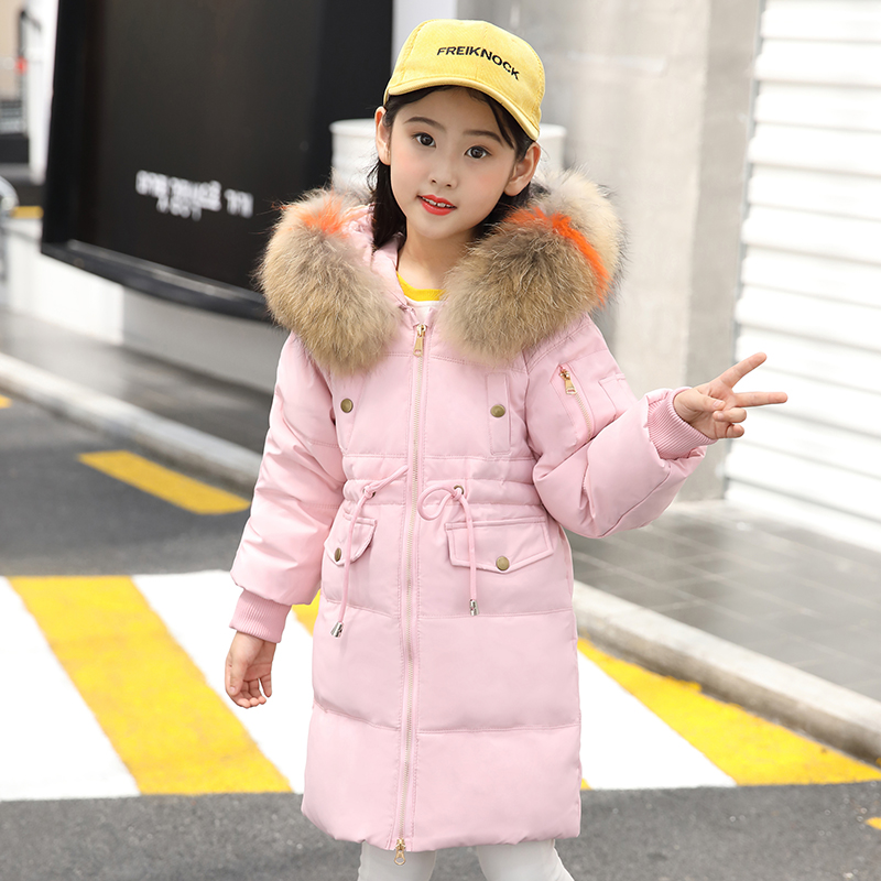 Girls Clothing Down Jacket 2018 Winter Thicken Parka Real Fur Hooded Children Outerwear Coats 4 6 8 10 12 Years For Girl Clothes 2018 girls clothing warm down jacket for girl clothes 2018 winter thicken parka real fur hooded children outerwear snow coats