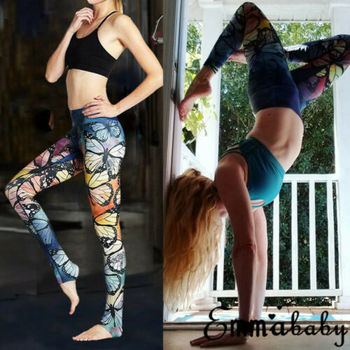 Sexy Women Butt Lift Print Pants Hip Push Up Leggings Fitness Workout Stretch Trouser Sport Casual Long Pant 2019 New image