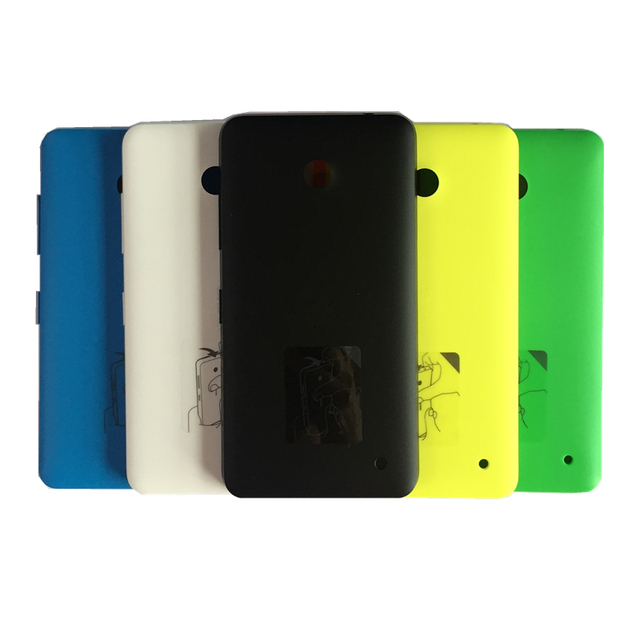 sale retailer da076 77fac US $2.51 10% OFF|Original New Matte Back Cover for Nokia lumia 630 635  Battery Cover Replacement Hard Case for lumia 636 638 with side button -in  ...