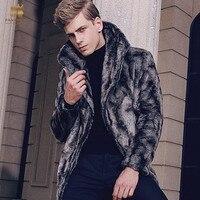 Fanzhuan Free Shipping New Fashion Casual Male Man Winter Men S Long Fur Winter Coat Slim