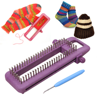 Adjustable Sock Loom Kit Knitting Socks Scarf Hat DIY Hand Craft Tool Plastic Sewing Tools Practical