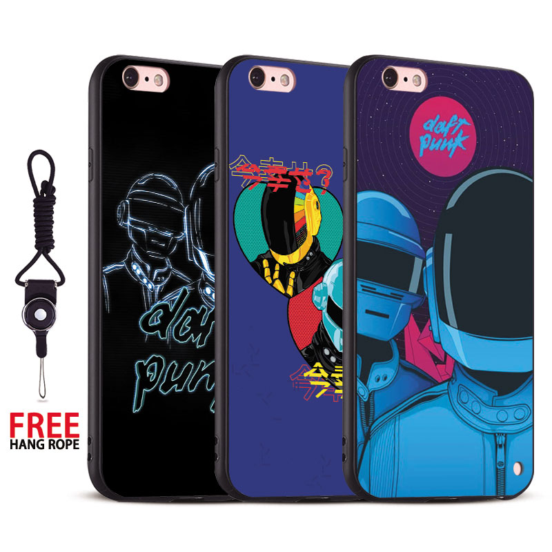Daft Punk band Coque Tpu Soft Silicone Phone Case Cover shell For Apple iPhone 5 5S SE 6 6S 6Plus 6sPlus 7 7Plus 8 8Plus X