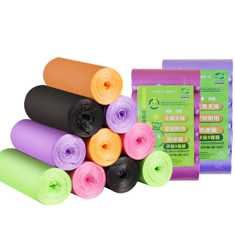 >Degradable garbage bags, household plastic bags, thickened <font><b>medium</b></font> <font><b>size</b></font> plastic bags, <font><b>kitchen</b></font> starch bags,