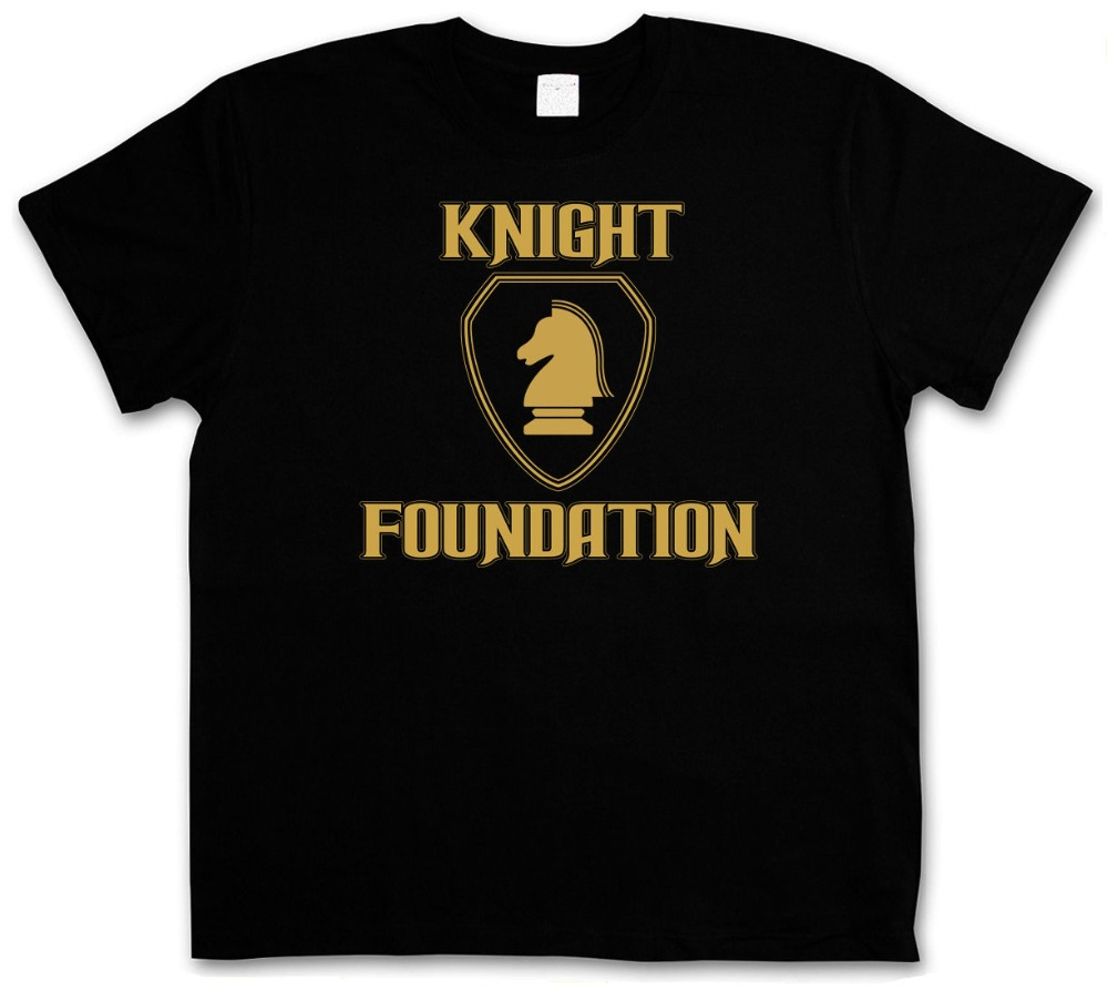 Newest Funny T-Shirt Black Knight Foundation Logo Rider K.I.T.T. S 3XL Xxxl T-Shirt Hip-Hop Casual Clothing