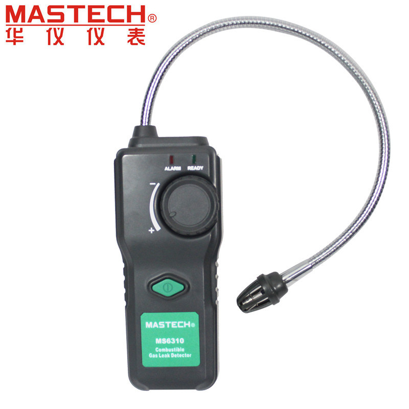MASTECH MS6310 Portable Combustible Gas Leak Detector Natural Gas Propane Gas Analyzer portable gas detector alarm analyseur gaz natural gas leak detector alarm over flow and over pressure protect combustible gas automatic anti leakage control device