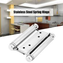 3/4/5inch Double Action Spring Hinges w/ Screw Stainless Steel Hinge For Door Gate Fittings door hinge charniere inox