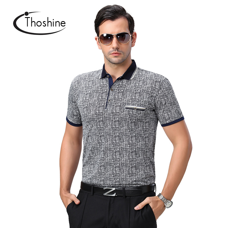 Thoshine Brand 2018 Summer Men Polo shirt 97% Viscose Male Classical Polo Shirts Stand Collar Adult Cool Tops Clothing Plus Size