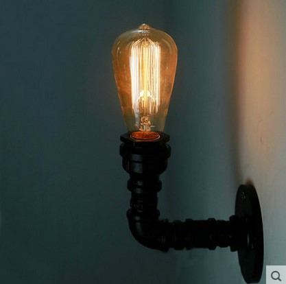 Industrial Pipe Lamp Vintage Wall Light Fixtures In Retro Loft Style Edison Wall Sconce,Arandela Lamparas De Pared купить