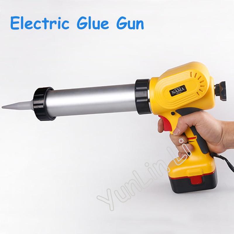 Portable Electric Glass Glue Gun Handheld Rechargeable Glue Gun Caulking Gun Tools MD-630