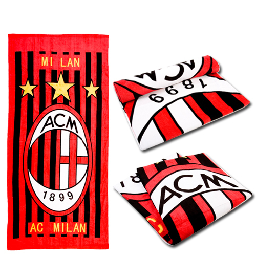 Football AC milan outdoor ride autumn and winter sports towel beach towel bath towel