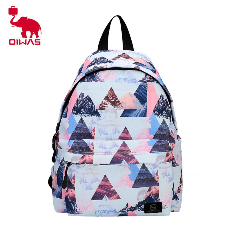 Oiwas Fashion Style Bag Pack Portable Backpack With Colorful Canvas Small Softback Bags For Men&Women Teenager Hot