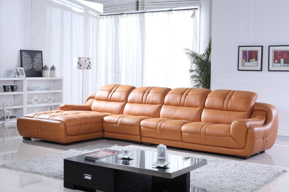 2017 Latest Modern Design Leather Sofa 669 In Living Room Sofas
