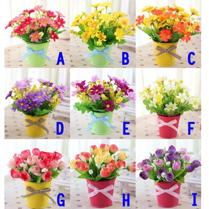Artificial Flower Bonsai New Year Home Living Room Decoration Flower Arrangement Potted Plants 6 15cm