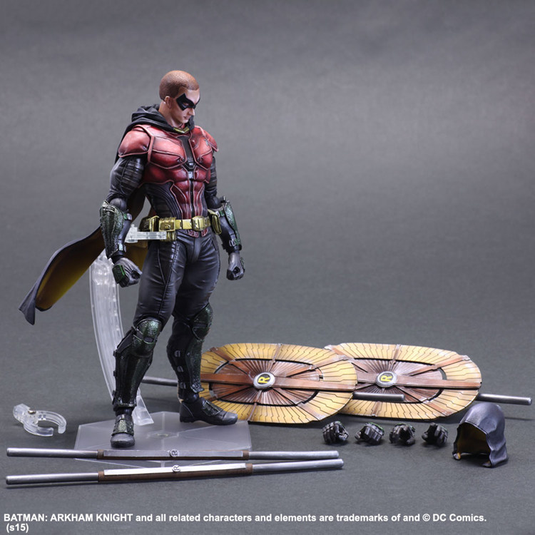Batman Play Arts Kai Action Figure Arkham Knight Robin PVC Toys 280mm Anime Movie Model Bat Man Robin Playarts Kai стоимость
