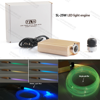 factory 25w LED fiber optics star light projector light source with RGB 24key remote control