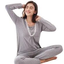 Long Sleeve Nursing/Maternity Nightwear