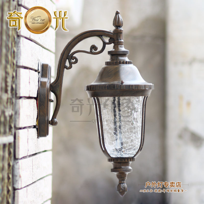 coffe color indoor/outdoor led porch light garden lamps rust-proof wall mounted balcony lamps ip65 110V/220V tuinverlichting