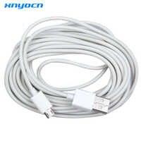 Xnyocn novo cabo 5 m micro usb cabo de dados de carregamento adaptador para samsung telefone branco para lg xiaomi