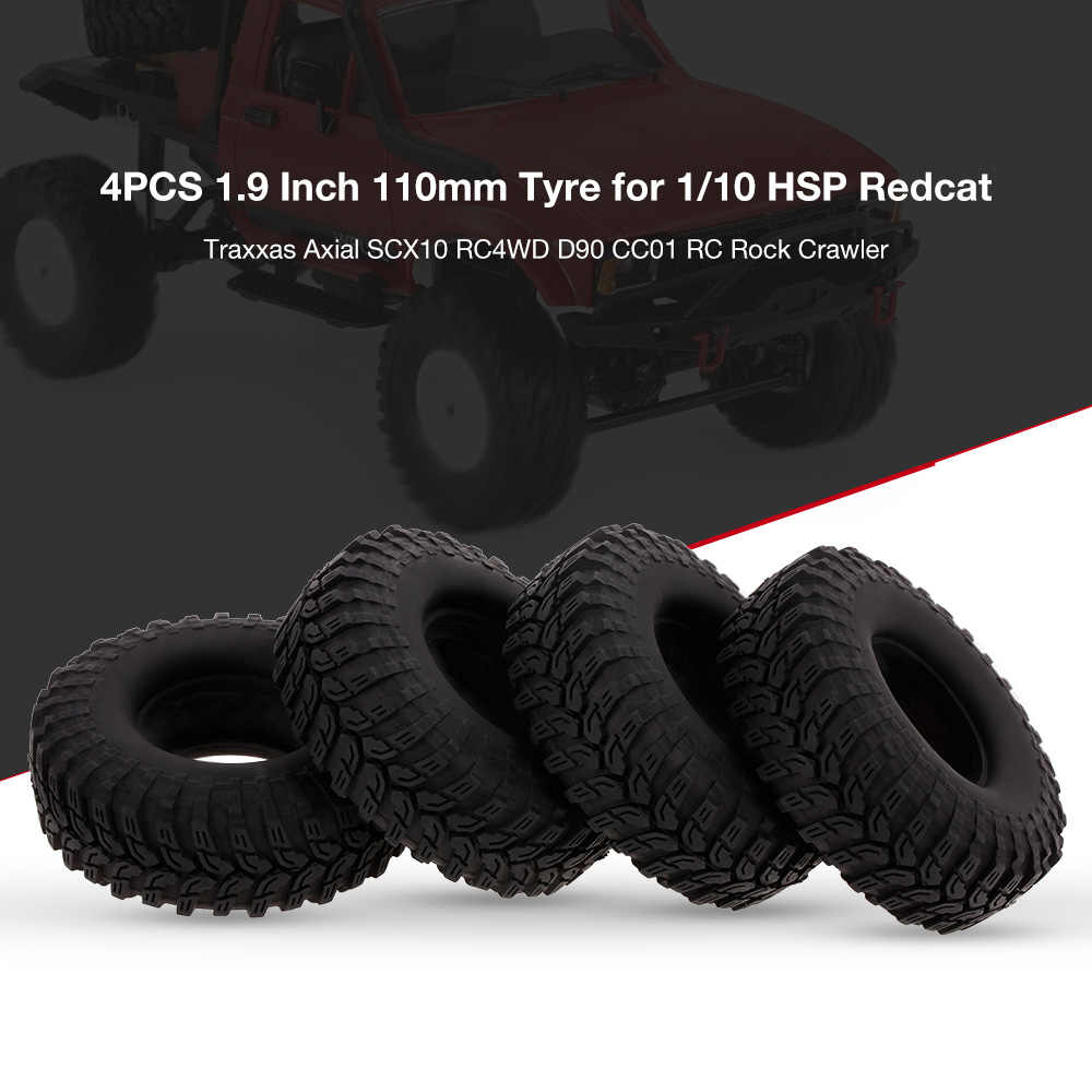 4 STUKS 1.9 Inch 110mm RC Autoband voor 1/10 HSP Redcat Traxxas Axiale SCX10 RC4WD D90 CC01 RC rock Crawler