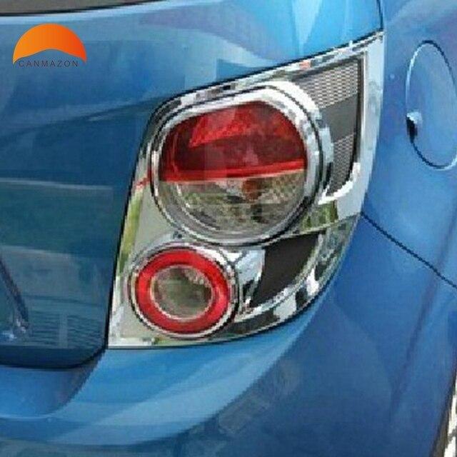 For Chevrolet Aveo Sonic Hatchback 2011 2012 2013 Chrome Rear Tail