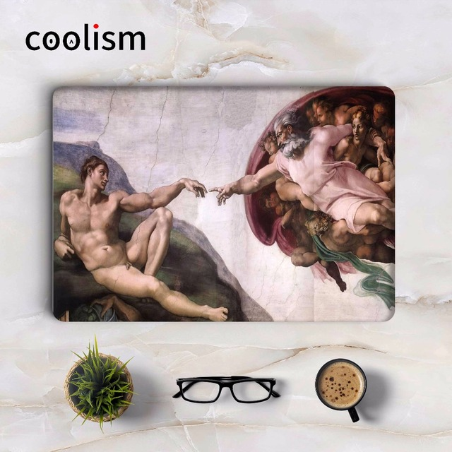 Genesis bible story michelangelo laptop decal sticker for macbook air 13 skin air pro retina 11