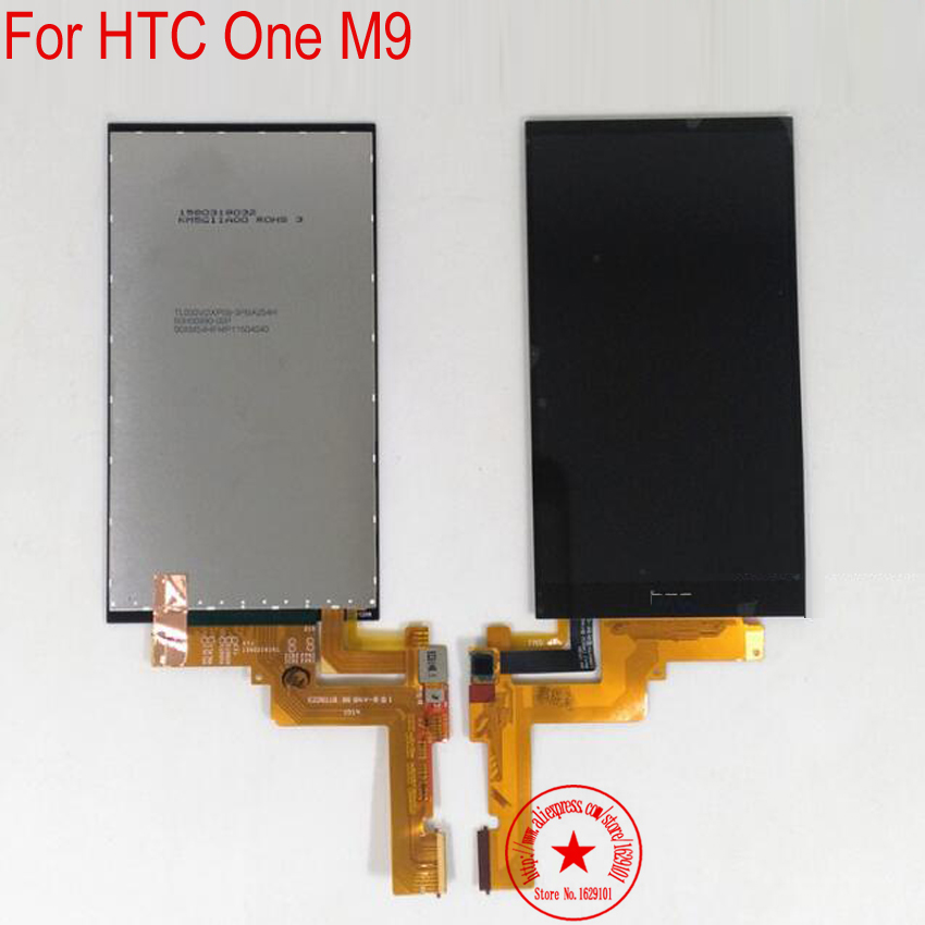 Подробнее о 100% Tested TOP Quality Full LCD Display Touch Screen Digitizer Assembly For HTC One M9 Mobile Replacement Repair Parts top quality black full glass sensor lcd touch screen digitizer assembly for htc one sv c525e mobile phone display repair parts