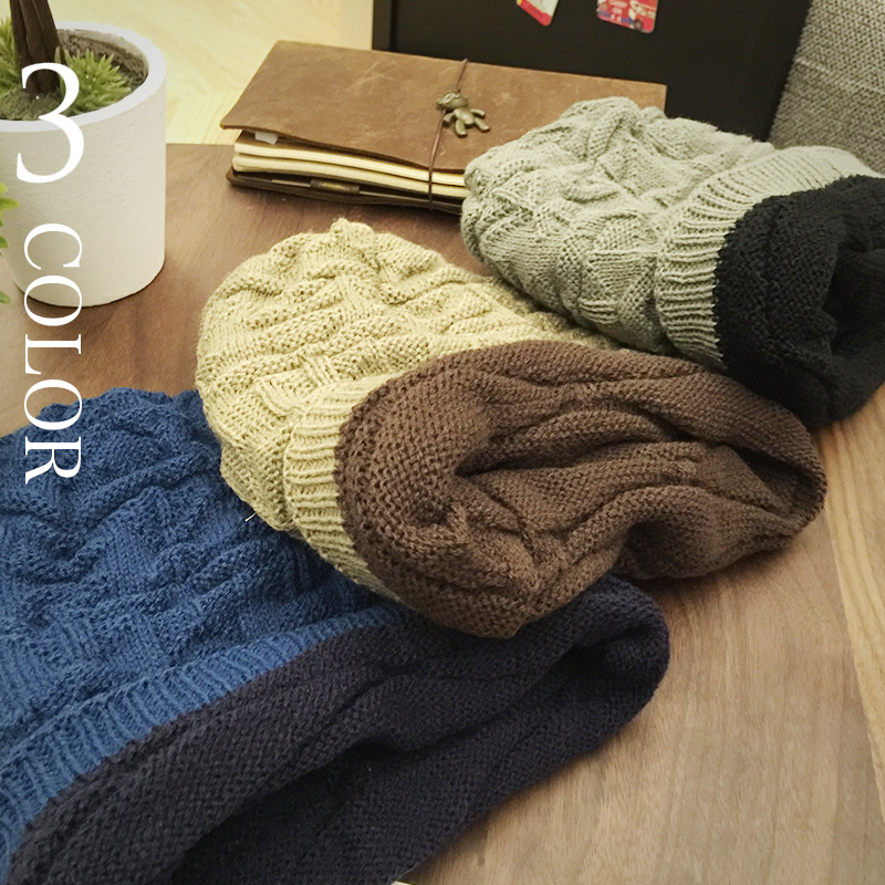 2017 Men's Skullies Hat Bonnet Winter Beanie Knitted Wool Hat Plus Velvet Cap Thicker Stripe Sports Beanies Hats for men skullies